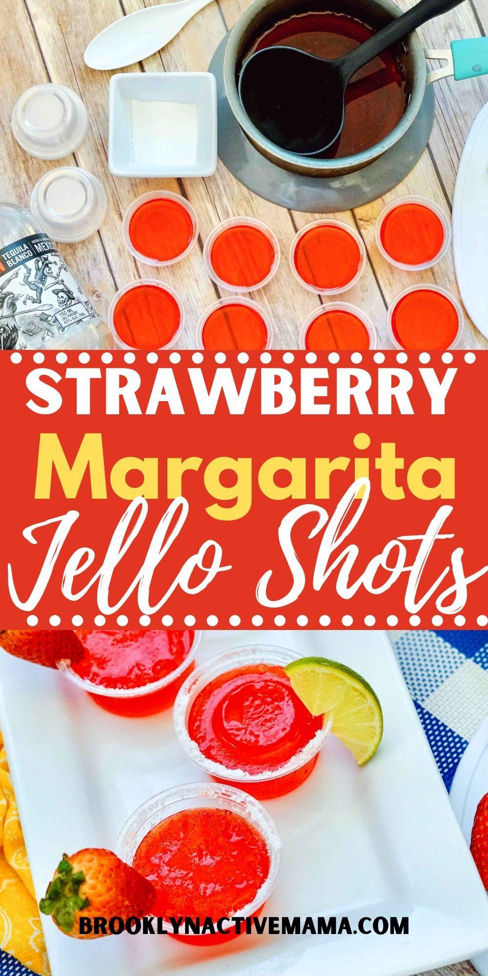 Easy And Fun Strawberry Margarita Jello Shots Recipe Recipe In 2020 Jello Shot Recipes Shot Recipes Margarita Jello Shots