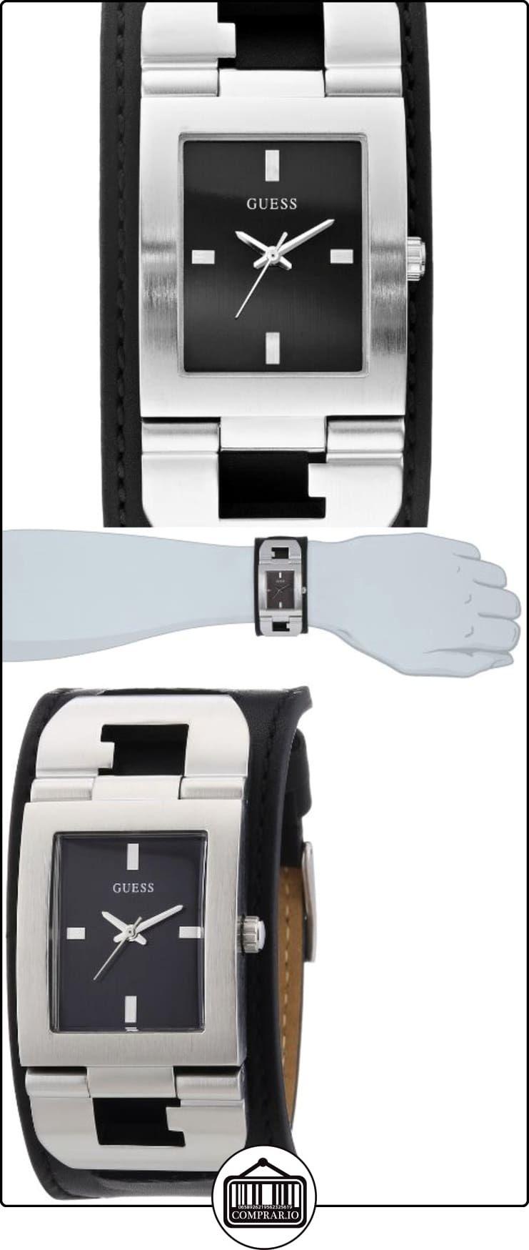 Guess Cuffed W0066G1 - Reloj analógico de cuarzo para hombre, correa de cuero color negro  ✿ Relojes para hombre - (Gama media/alta) ✿