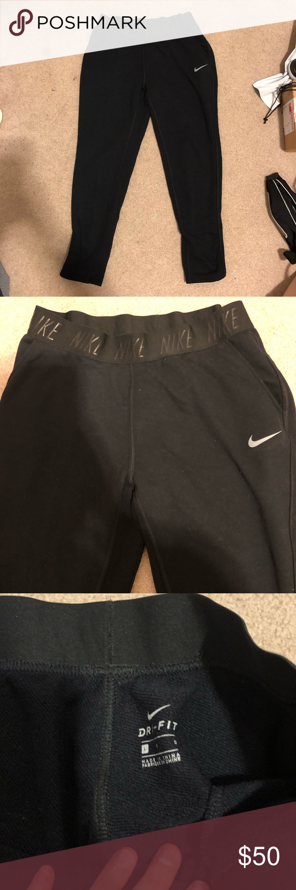 786588d6ccea Nike sweatpants Black. Worn only a couple times. Loved them