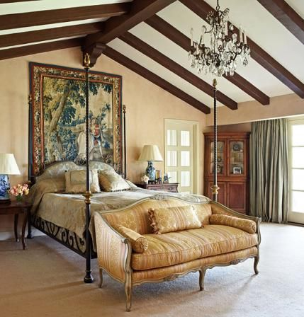 Master Bedroom ::: JoBeth Williamsu0027 Spanish Style Home | Traditional Home
