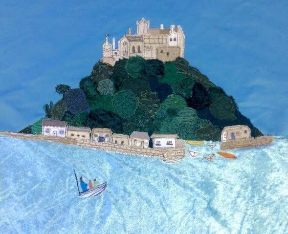 Jackie Gale Textile Art.  St Michaels Mount.