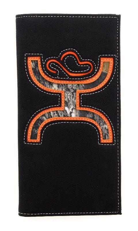 HOOey Mens Black Signature Rodeo Wallet