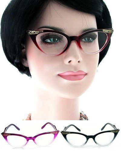 Womens Cat Eye Vintage Sunglasses Black or Tortoise Frames Chic Rockabilly Style