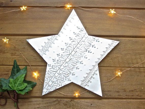Large 8 20cm Hanging Star Decoration Boho Christmas By Foilingstar