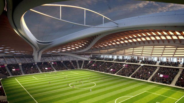 Zaha Hadid Unveils Qatar 2022 Fifa World Cup Stadium Design Stadium Architecture Zaha Hadid Architects Qatar World Cup Stadiums