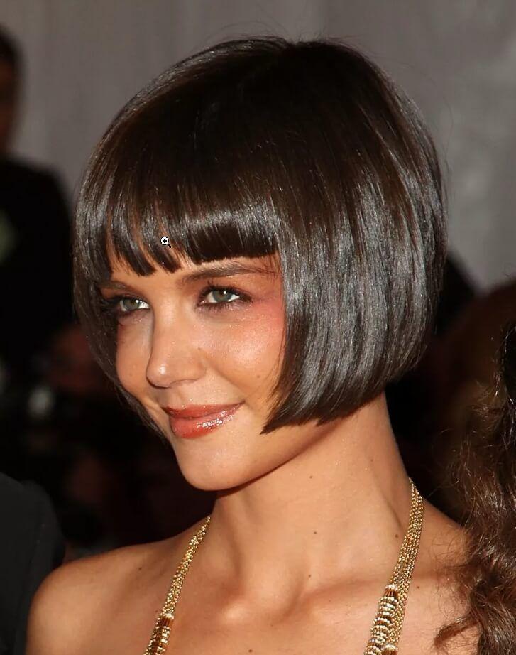 Katie Holmes Kurze Frisuren Und Haarschnitte 25 Bob Frisur Bob Haarschnitt Mit Pony Haarschnitt Bob