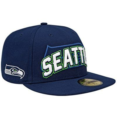 New Era Seattle Seahawks NFL Draft Fitted Hat - Navy Blue  c2400ee95d5