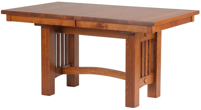 60 X 42 Albany Mission Table In Autumn Oak From Erik Organic