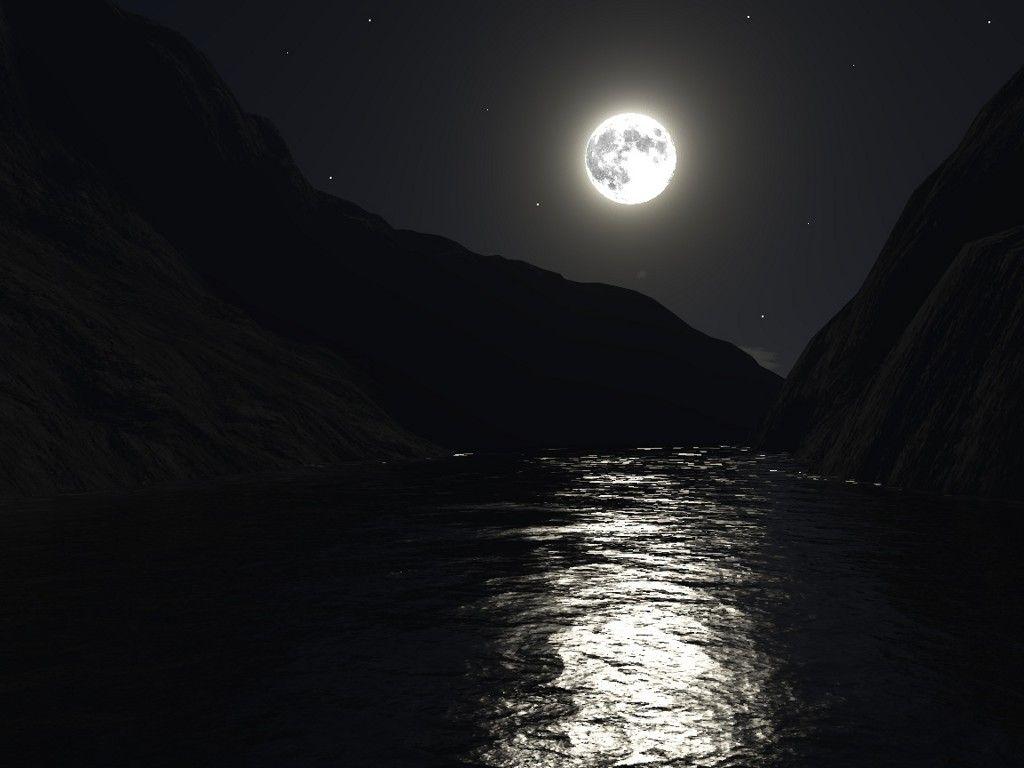 Dark Night Moon Nature Good Night Moon Night Sky Wallpaper Moon