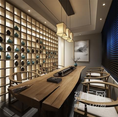 新中式茶室桌椅 模型 Pinterest Teas, Interiors and Restaurants - küchen modern design