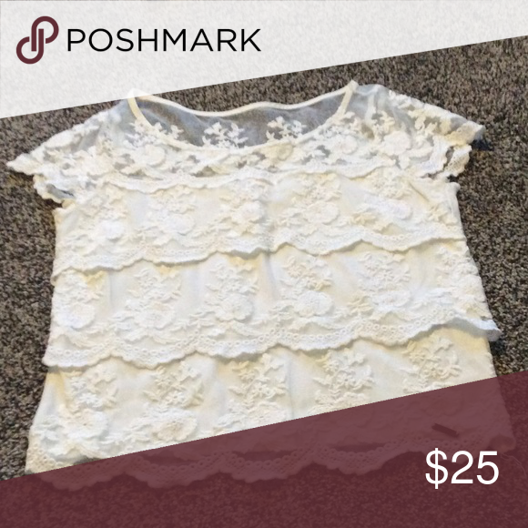 Girls lace top Abercrombie girls lace top Abercrombie & Fitch Shirts & Tops Tees - Short Sleeve