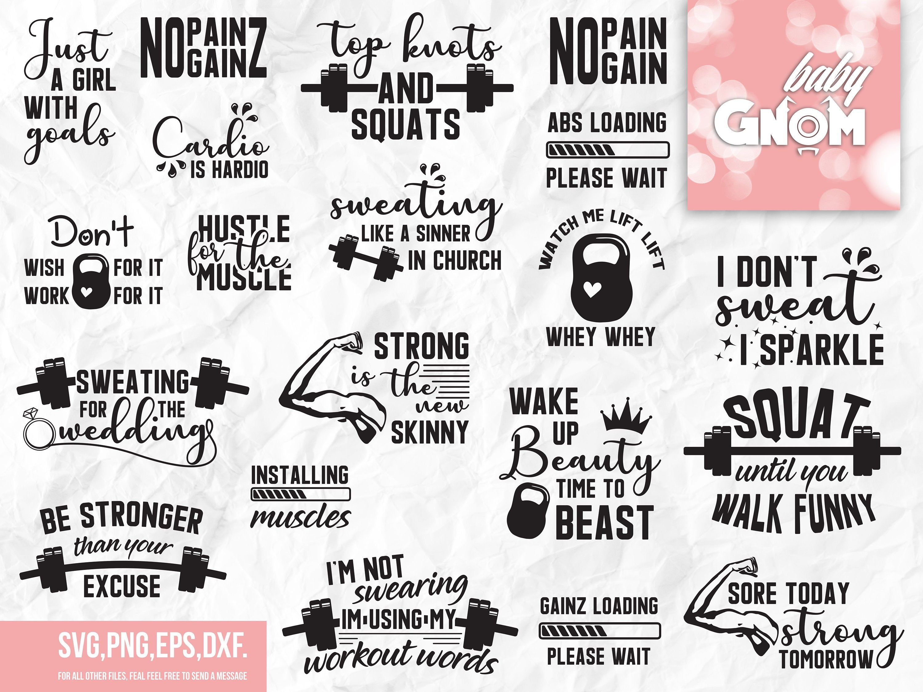 Gym Saying svg Fitness Cut File Workout Cut File Gym Tank svg Hustle For The Muscle SVG Workout SVG Fitness SVG Exercise Quote svg