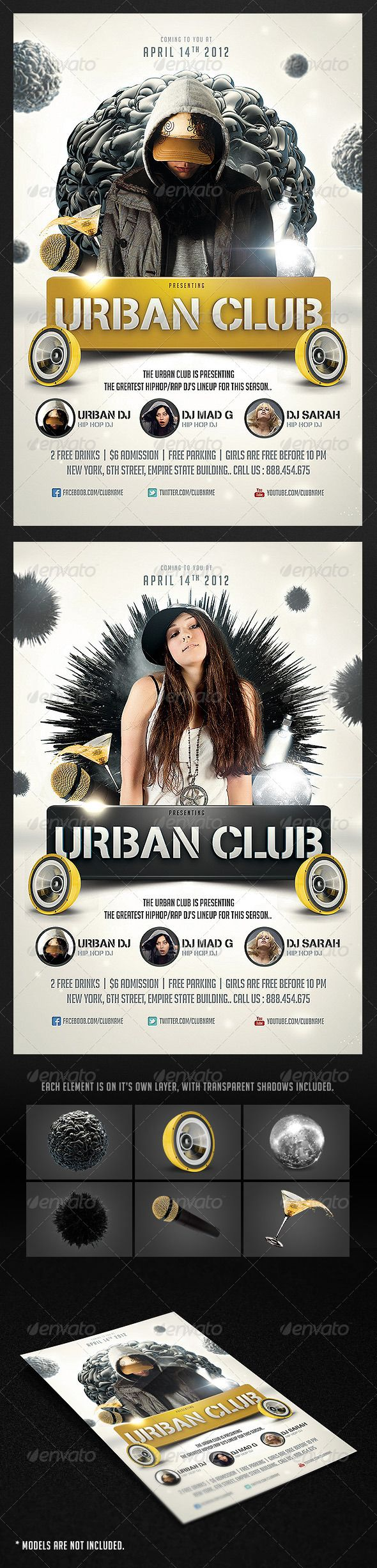 Urban Club Flyer  Party Flyer Flyer Template And Ecommerce Logo