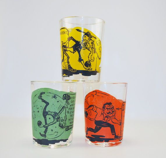Kitsch Mid Century 194050's Barware Shot Glasses by BichenVintage, $24.50