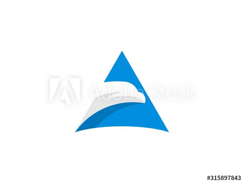 Blue Triangle With Face Eagle Inside Buy This Stock Vector And Explore Similar Vectors At Adobe Stock Adobe Stock