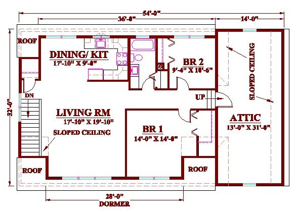 two bedroom garage apartment plans | rv garage with 2nd floor 2 ...