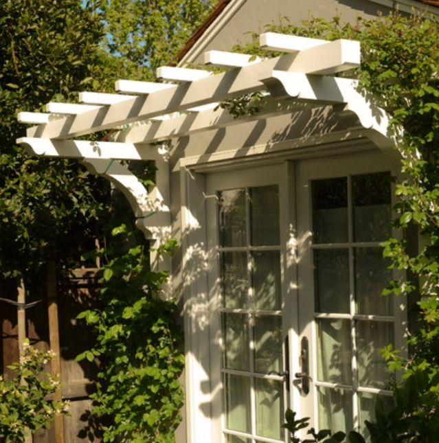 Pergola Overhang For Window Cottage Exterior Pergola Craftsman Exterior