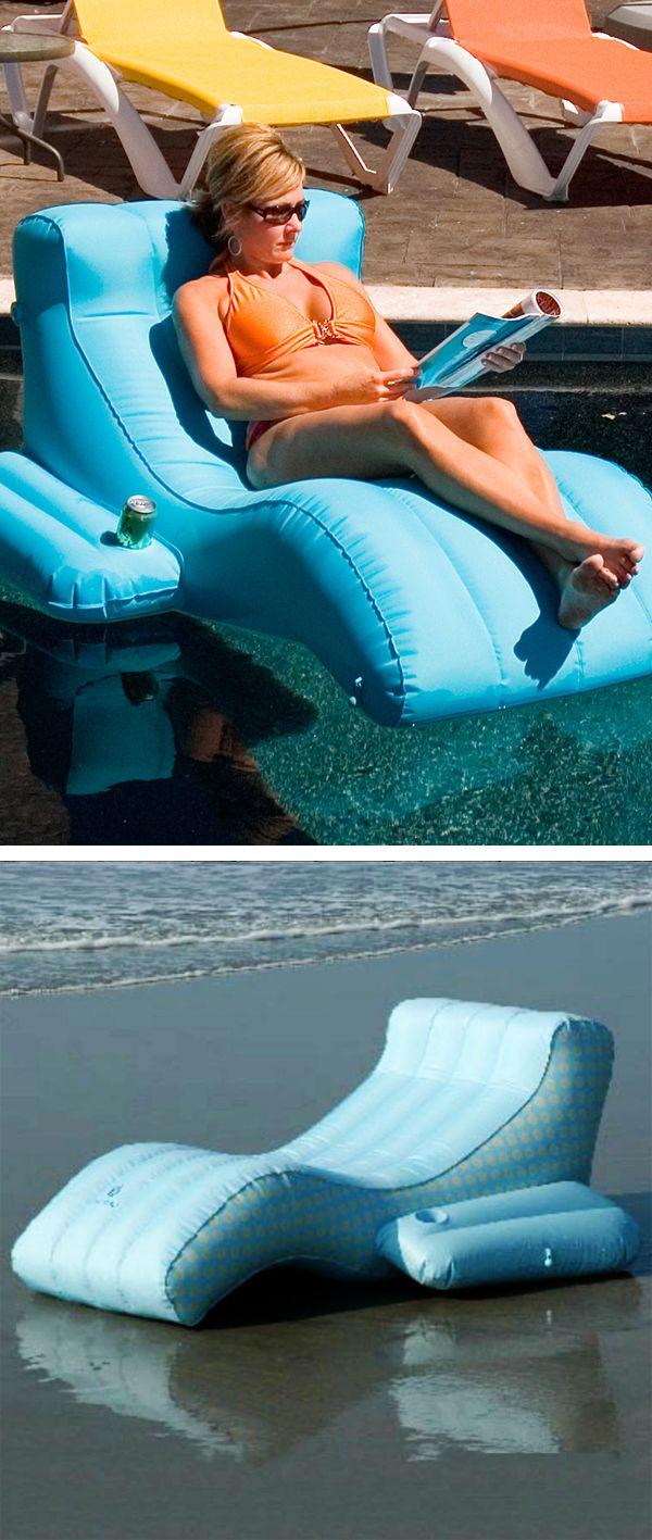 Zero gravity floating pool lounger yes please productdesign