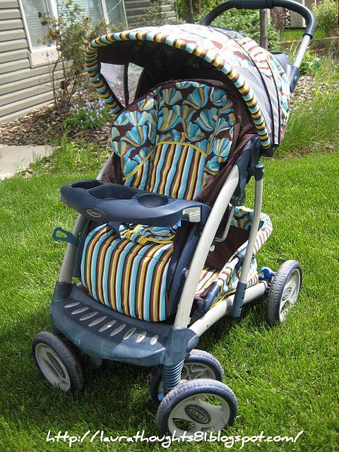 Stroller Recover... totally stole my idea ha! DIY