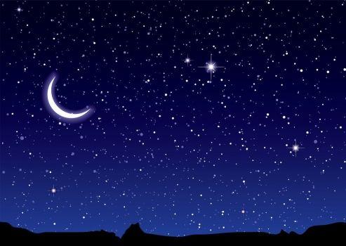 Imagenes de cielo estrellado con luna - Imagui   cielo en ...