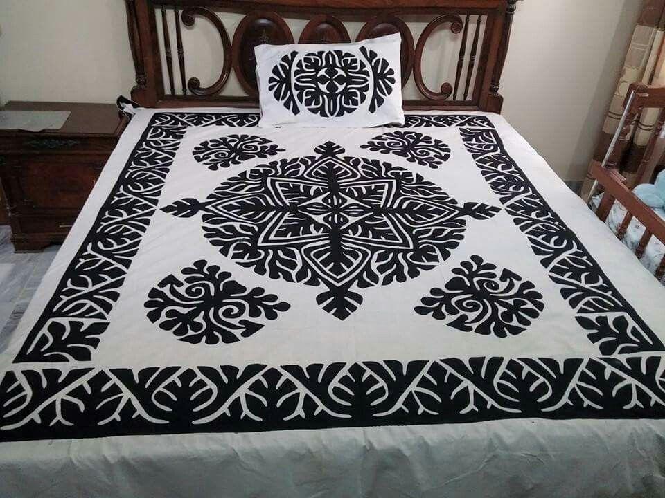 Handmade Applique Bedsheet Fabric Pure Cotton. Piece 5