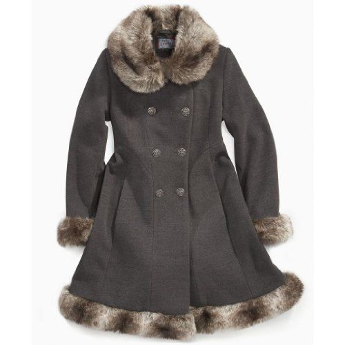 Coats On Sale: Best Price with Rothschild Girls Faux Fur Trimmed ...