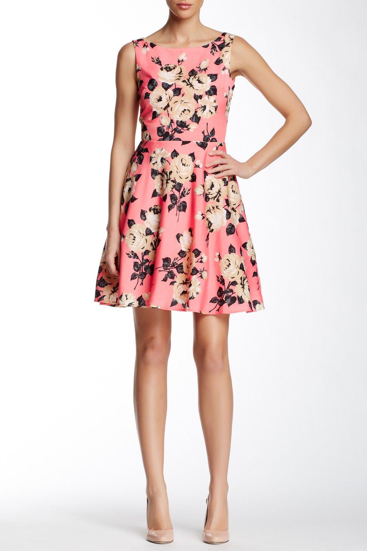 Betsey Johnson | Printed Cutout Back Dress | Nordstrom Rack | Modas ...