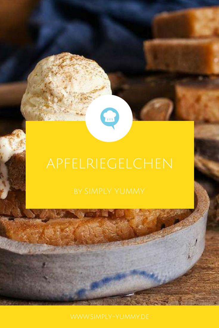 Apfelriegelchen | Recipe | Brownie bar, Kuchen and Brownies