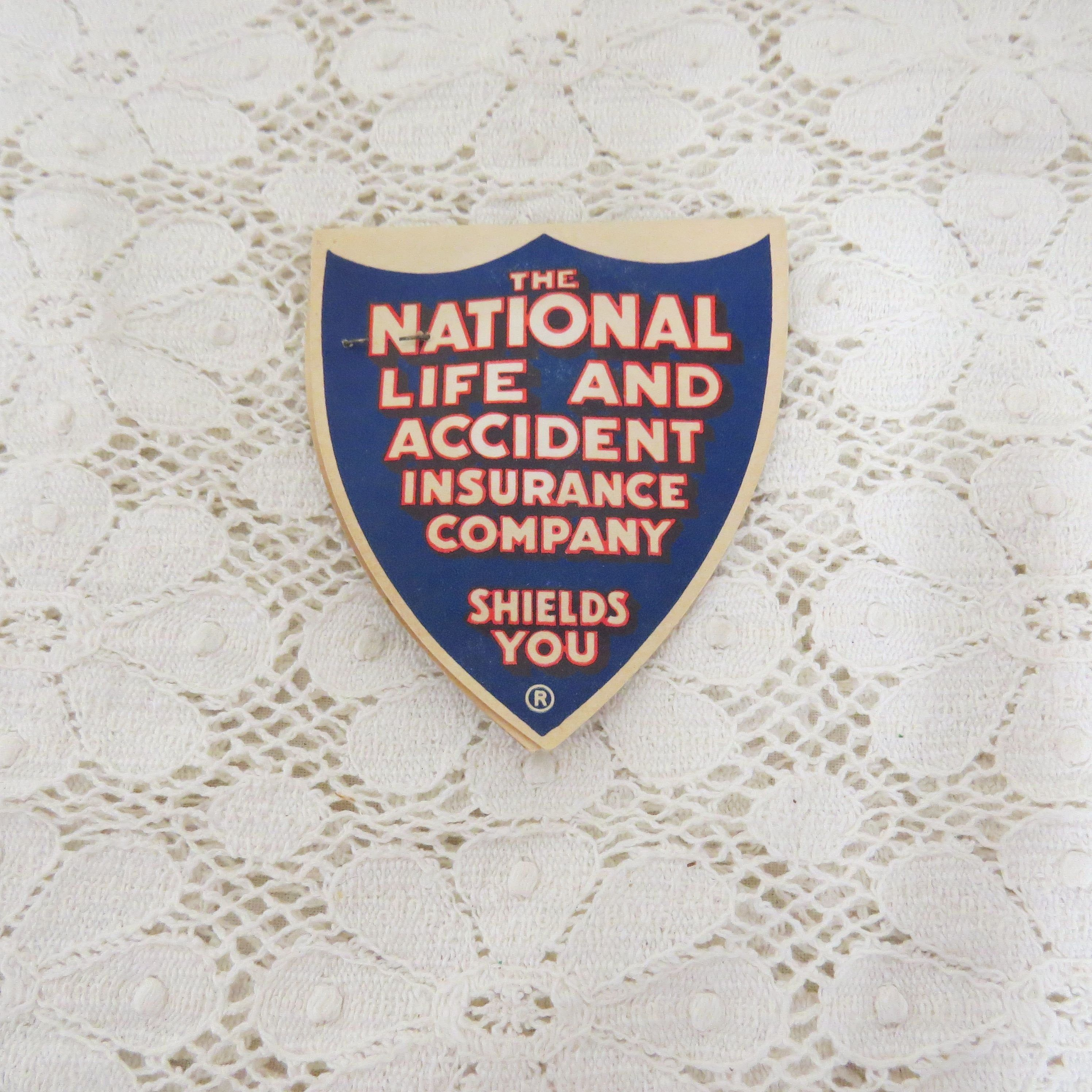 Vintage Advertising Needle Case National Life And Accident