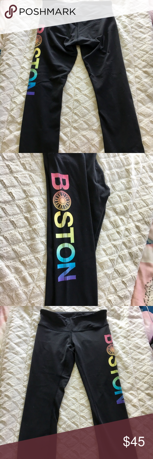 1537627e36 Lululemon SoulCycle Boston' wunder under crop Gently used leggings from  SoulCycle in great condition! 'Boston' wheel logo runs down the side of one  leg ...