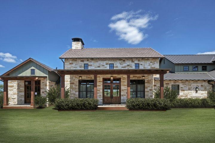 German Texas Farmhouse I Portfolio Olson Defendorf Custom Homes In 2020 Texas Hill Country House Plans Farmhouse Exterior Hill Country Homes