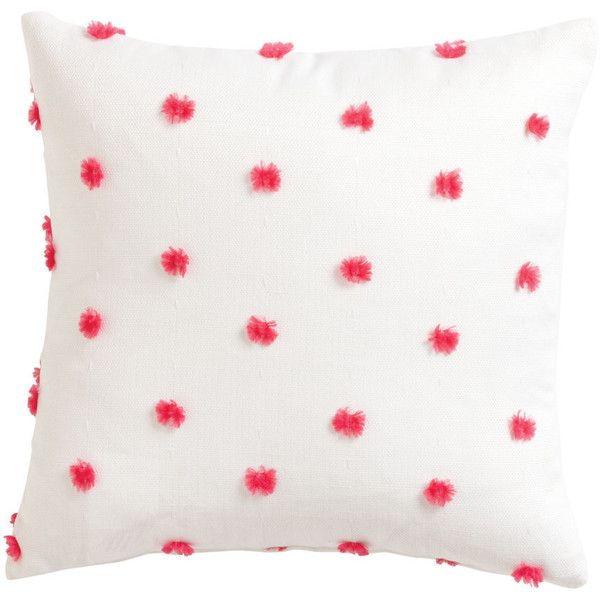 Ethan Allen Fuzzy Pink Polka Dot Pillow 40 Liked On Polyvore Unique Ethan Allen Decorative Pillows