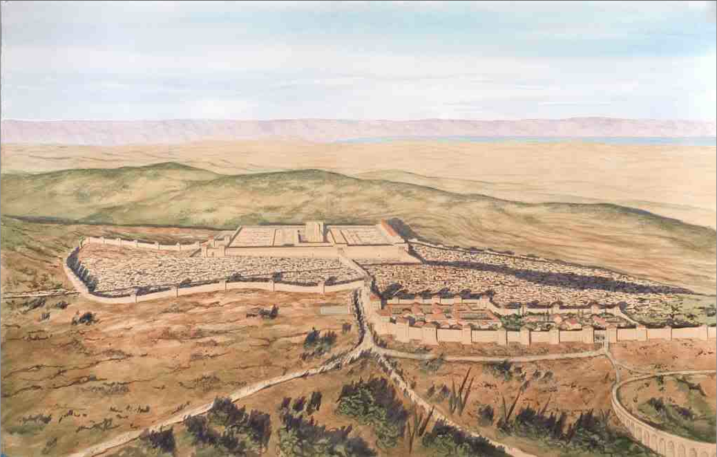 Artist S Portrayal Of 1st Century Jerusalem Looking East Aerial View Ancient Jerusalem Ancient Architecture