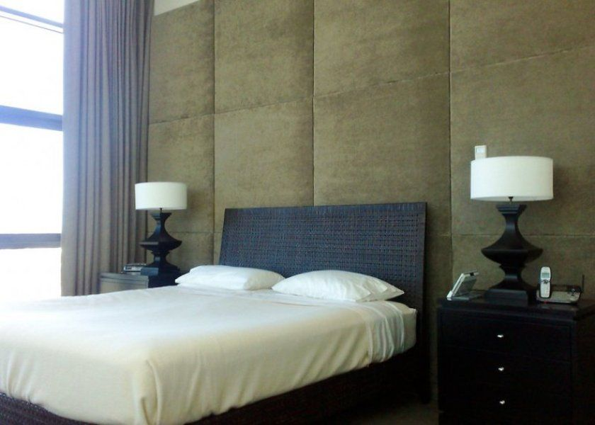 Padded Wall Panels contemporay wall mounted upholstered headboard panels with silver