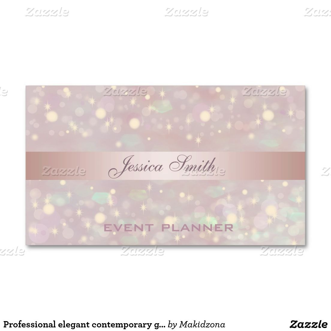 Professional elegant contemporary glitter bokeh double sided professional elegant contemporary glitter bokeh double sided standard business cards pack of 100 magicingreecefo Images