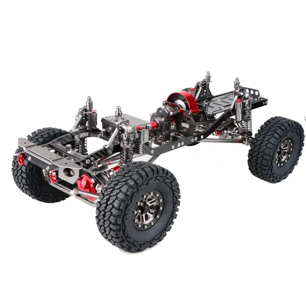 1 10 Scale 4wd Rock Crawler Aluminum Aolly Axial Scx10 Crawler Chassis Frame Kit Assembled Chassis Frame Wheelbase 313mm Rock Crawler Car Frames Rc Cars