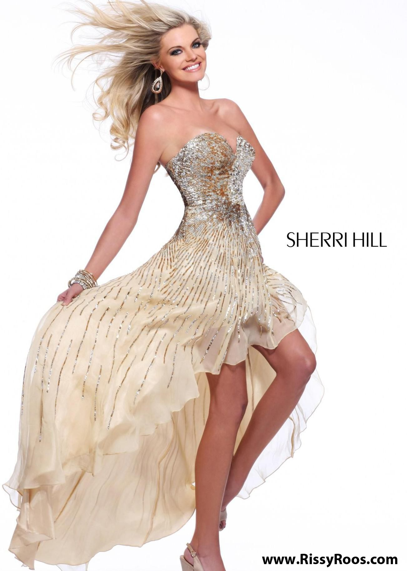 Find sherri hill nude sweetheart high low prom dresses