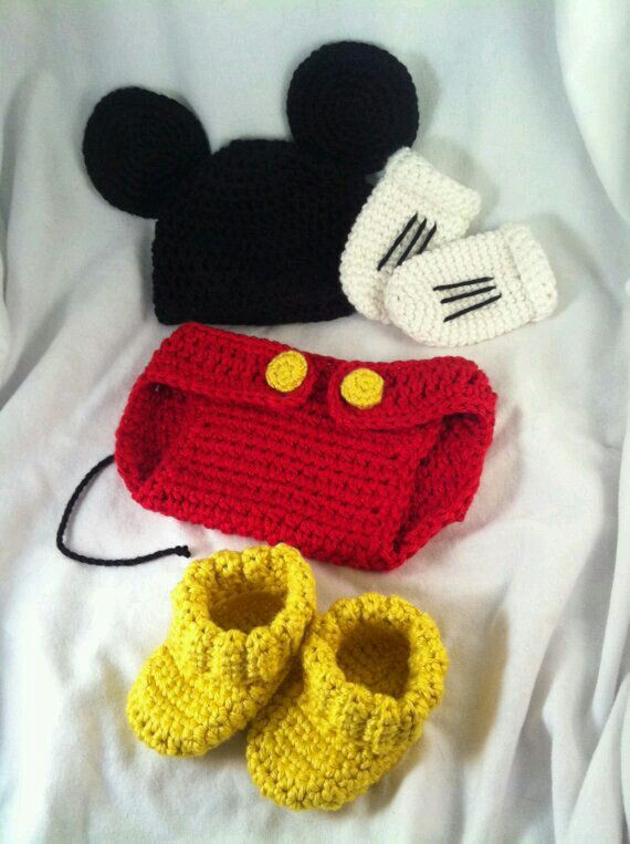 Disfraz mickye | crochet | Pinterest | Neugeborene-outfits ...