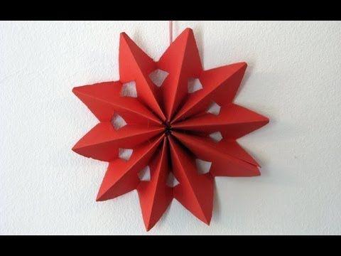 Decorar Estrellas De Navidad En Cartulina.Video De Estrella De Papel Para Decorar Manualidades De