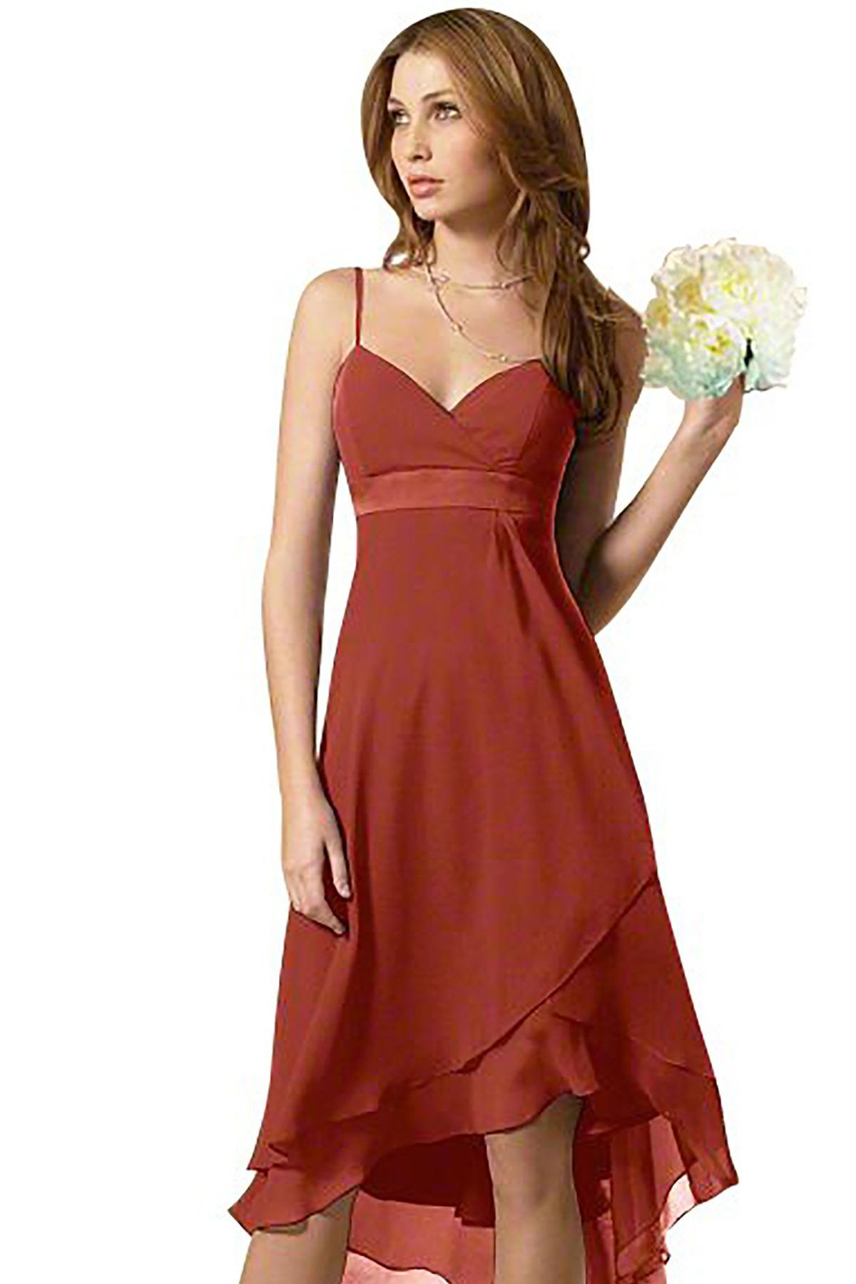 Alfred Angelo 6471 Bridesmaid Dress in Burnt Orange in Chiffon ...