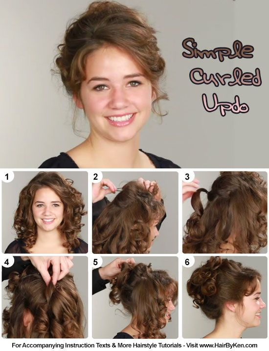 Tutorial Simple Curled Pride And Prejudice Hair In 2019
