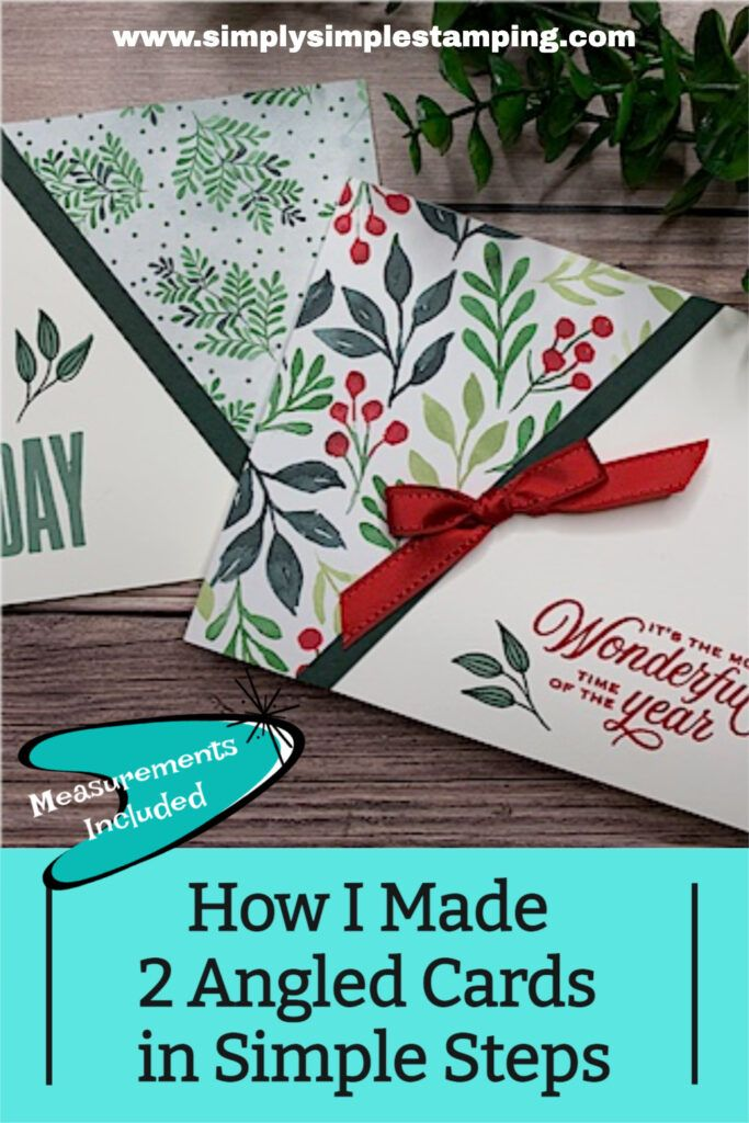 17+  How I Made 2 Angled Cards In Simple Steps   Designer Paper Cards You'll Love