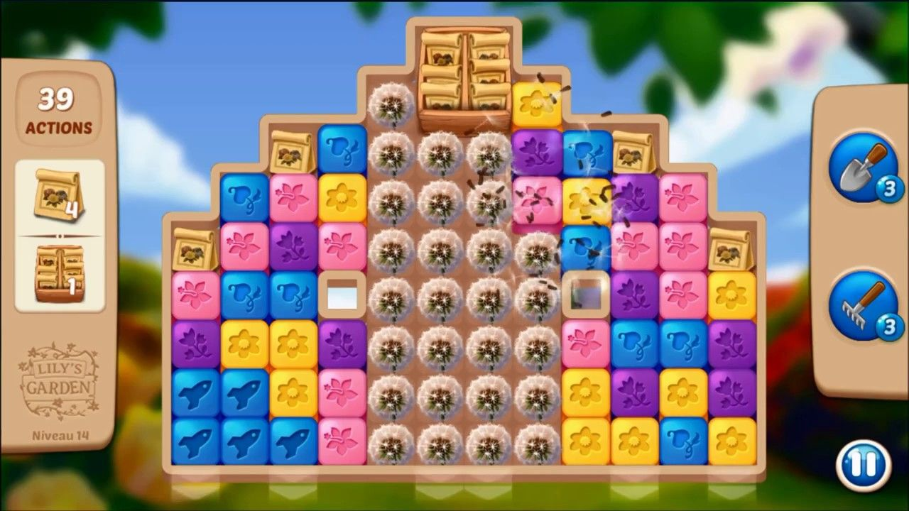 Lily S Garden Level 14 No Boosters Lily Garden Garden Levels Lily