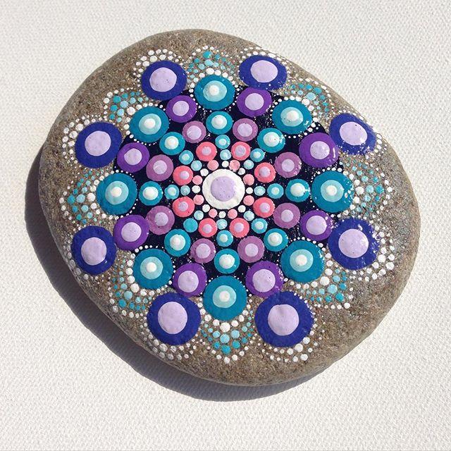 #createandcherish #paintedrock #paintedstone #dotilism #the100dayproject #purple