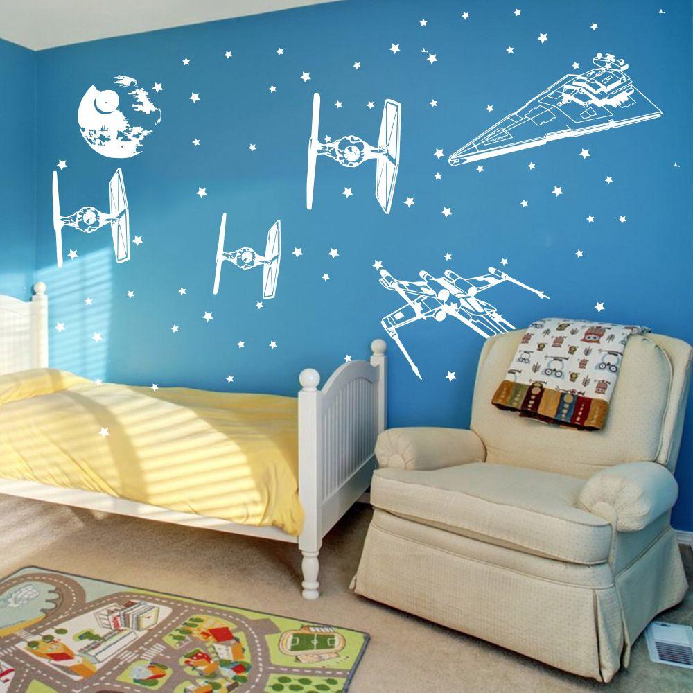 At vinyl decal A Boy and His At At Wall Decal Star Wars decal-Boys Room Decal Star Wars wall decal