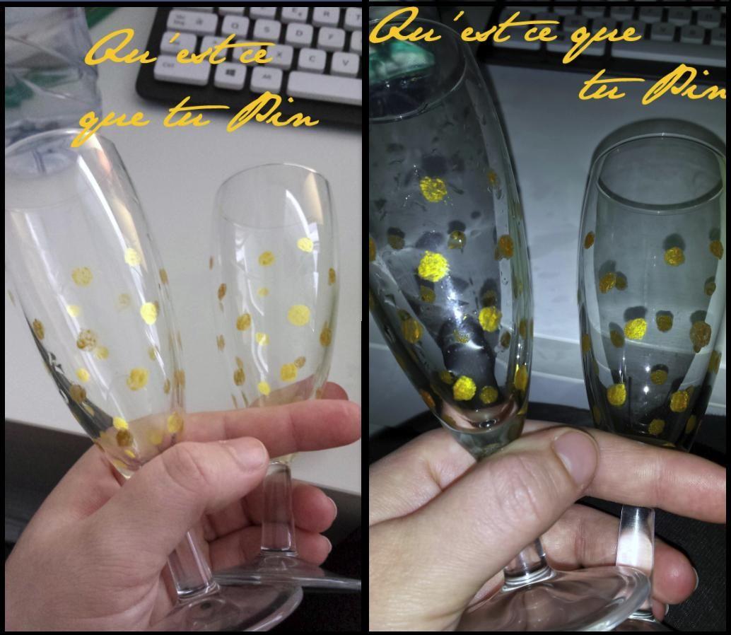 RESULTAT verres à champagne polka dot
