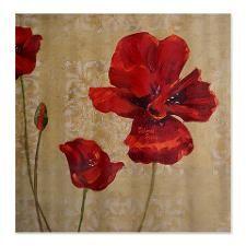 Poppy Art III Shower Curtain #flowers #decor #showercurtains #bath #interiordesign