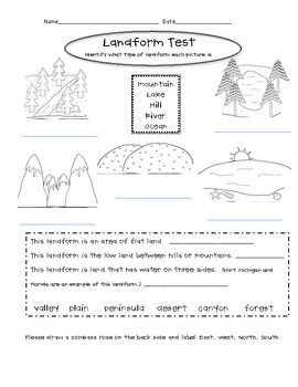 Landform Worksheets For Middle School