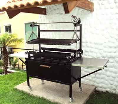 Asador 3 en 1 asador pinterest grills patios and stove for Asadores de carne para jardin de ladrillo
