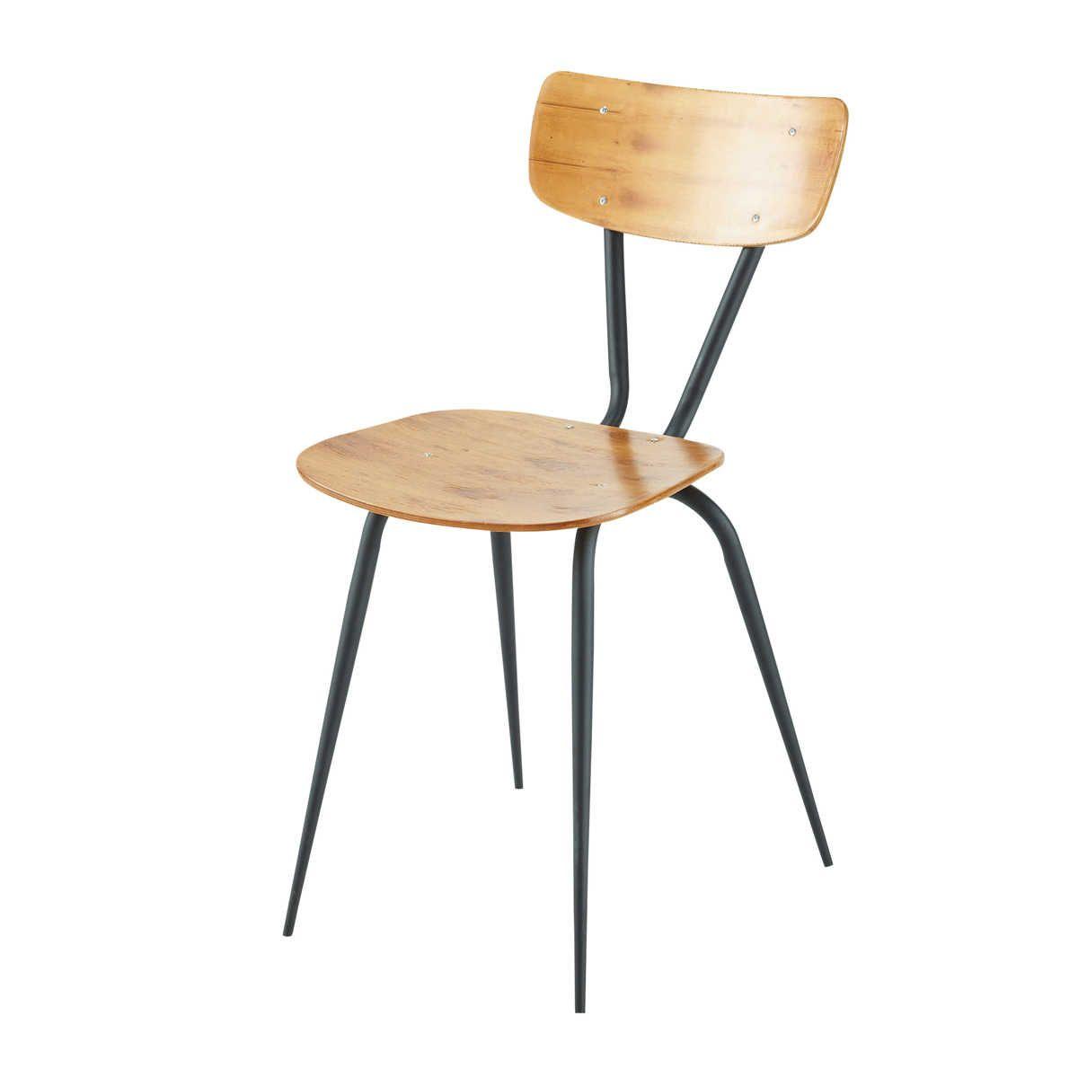 chaise vintage ferry maison du monde 79 99 le lot de. Black Bedroom Furniture Sets. Home Design Ideas